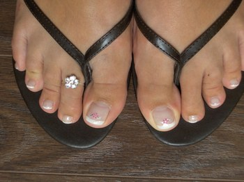 Ongles gels pieds